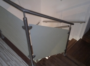 Balustrada ze szkłem matowym