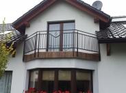 Balustrada nierdzewna malowana proszkowo