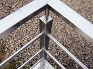 26_Balustrada nierdzewna zewnętrzna z profilu nierdzewnego balustrady