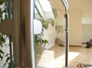 Balustrada nierdzewna łączona ze szkłem