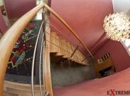 Balustrada nierdzewna z pochwytem drewnianym